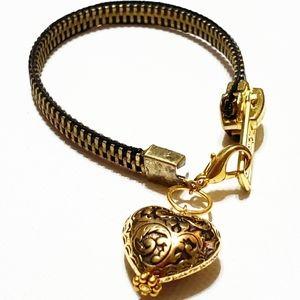 Gold Zipper Bracelet